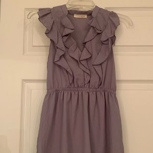 Purple top with ruffles